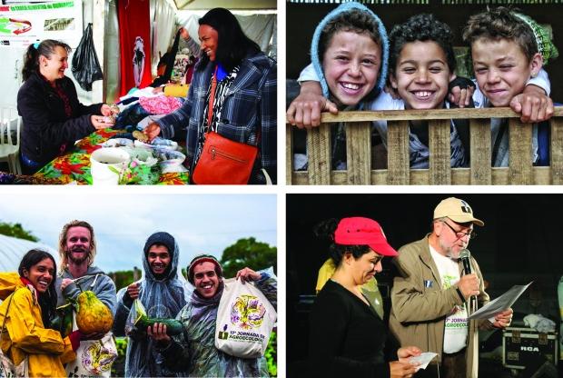 Fotos (sentido horário inicio esq. sup.): Riqueli Capitani, Giorgia Prates, Giorgia Prates, Henrique Kugler.